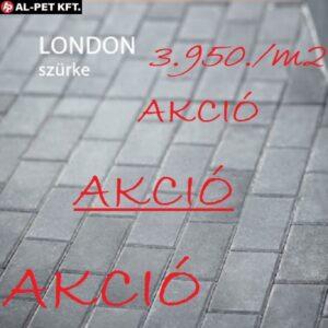 AKCIÓS ÁRON !!! KK LONDON szürke térkő 10*20*6 cm AKCIÓS ÁRON !!!